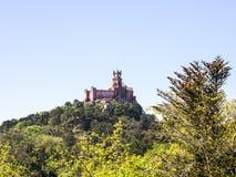 Da Pena Castle. A far view of Da Pena Castle in Sintra, Portugal royalty free stock photography