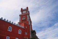 Da Pena pałac zegarowy wierza, Portugalia, Sintra Obrazy Stock