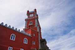 Da Pena Palace clock tower, Portugal, Sintra Stock Images