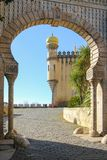 Da Pena palace. Entrance. Sintra. Portugal Royalty Free Stock Photos