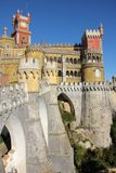 Da Pena palace. Sintra. Portugal Stock Image
