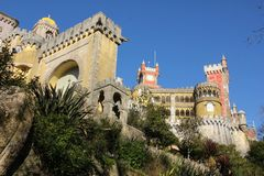 Da Pena palace. Sintra. Portugal Stock Images