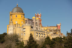 Da Pena palace. Sintra. Portugal. Palacio Da Pena.  Sintra. Portugal Royalty Free Stock Photography
