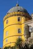 Da Pena palace. Yellow tower. Sintra. Portugal Stock Images