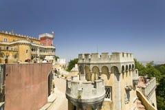 Da Pena Royal Palace, cioen da Pena för Palï ¿ ½ eller Castelo da Pena, som den är mer gemensam bekant, är det färdigaste och mes Arkivfoto