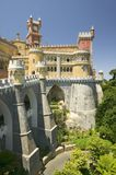 Da Pena Royal Palace, Pal�cio da Pena, or Castelo da Pena as it is more commonly known, is the most complete and notable example Stock Photos