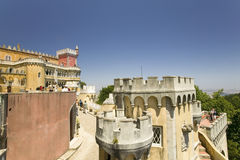 Da Pena Royal Palace, Pal�cio da Pena, or Castelo da Pena as it is more commonly known, is the most complete and notable example Stock Photo