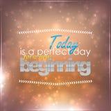 Día perfecto para un nuevo principio Imagen de archivo libre de regalías