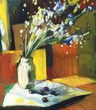 Da pintura a óleo vida ainda Imagens de Stock Royalty Free