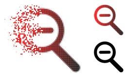 Da poeira de Pixelated do zumbido ícone de intervalo mínimo para fora ilustração stock