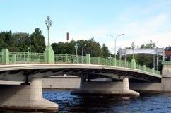 ? 3 da ponte de Elagin, St Petersburg Fotografia de Stock