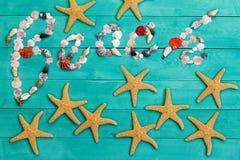 Da praia sinal criativo colorido da vida ainda Fotografia de Stock