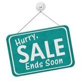 Da pressa da venda das extremidades sinal logo imagens de stock royalty free