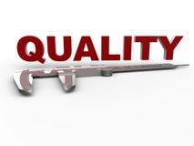 Da qualidade medida do conceito do compasso de calibre ilustração stock