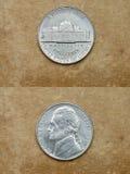 Da série: moedas do mundo. América. CINCO CENTAVOS. Imagens de Stock