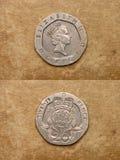 Da série: moedas do mundo. Inglaterra. imagem de stock royalty free