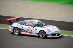 Da Sheng Zhang, Porsche Carrera kopp 2015 på Monza Arkivfoton
