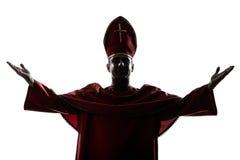 Da silhueta cardinal do bishop do homem bênção de saudação Foto de Stock