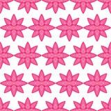 Da simetria branca do curso do rosa da flor teste padrão sem emenda ilustração royalty free