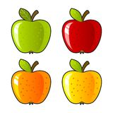 Da solo, dieta luminosa del dessert di colore del fondo della mela Fotografie Stock Libere da Diritti