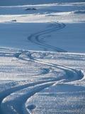 Da solo nella neve Fotografie Stock