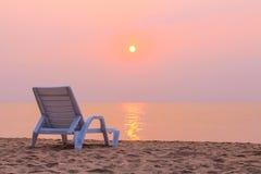 Da solo sulla spiaggia Fotografie Stock