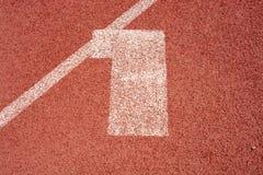 Da textura de borracha da tampa da pista de atletismo dos números opinião superior fotos de stock