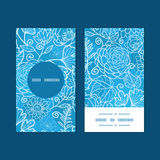 Da textura floral azul do campo do vetor círculo vertical Foto de Stock