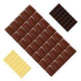 Da textura sem emenda do alimento do teste padrão do chocolate de leite grade realística escura Fotos de Stock