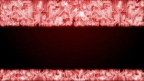 Da un circuito ad una testa umana e ad un cervello tecnologia Loopable carrello fuori Rosso royalty illustrazione gratis