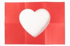 2 da un cuore di 3 bianchi Fotografie Stock Libere da Diritti