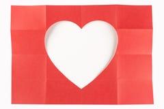 4 da un cuore di 4 bianchi Immagini Stock Libere da Diritti