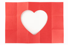 3 da un cuore di 5 bianchi Immagini Stock Libere da Diritti