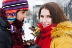 Da una rosa en invierno Fotos de archivo libres de regalías