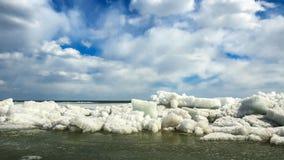 Da una vista dominata bianco del lago Xingkai a Heilongjiang Immagine Stock