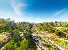 5 da uno stato all'altro a San Diego un giorno soleggiato Fotografie Stock