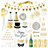 2019 da véspera anos novos de gráficos do clipart ilustração stock
