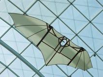 Da Vinci's glider. Leonardo da Vinci's glider under modern roof stock photos