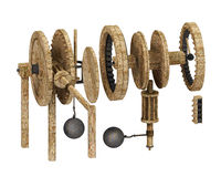 Da vinci gears Royalty Free Stock Photo