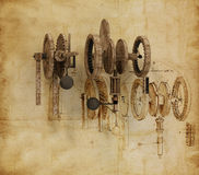 Da Vinci Gears (2) Royalty Free Stock Photography