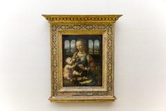 Da Vinci painting in the Alte Pinakothek in Munich Stock Photo