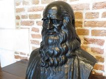 Da Vinci statua Obraz Royalty Free