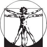 Da Vinci Vitruvian Man Royalty Free Stock Photos