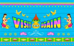 Da visita cartaz outra vez Imagens de Stock Royalty Free
