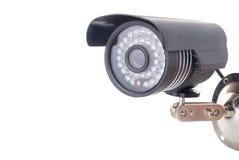 Día y noche cámara de vigilancia de la radio del color Fotografía de archivo