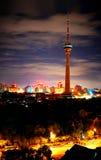Día y noche, Pekín Fotografía de archivo