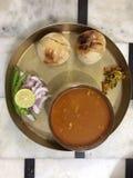 Daal baati. Rajasthani food Royalty Free Stock Photography