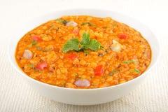 Daal curry - korzenna soczewicy polewka Fotografia Royalty Free