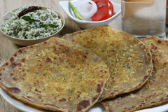 Daal ka Paratha - A flatbread made from lentils Stock Image