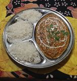Daal masala and rice Royalty Free Stock Photography